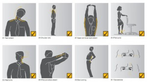 Ejercicios ergonomía