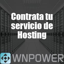 Contrate su servicio de WebHosting